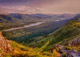 Горный пейзаж закат рассвет красивый вид