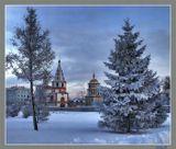 Иркутск Собор Богоявления зима вечер 6 января 2007