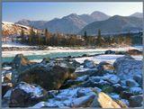Горный Алтай, р.Ильгумень, февраль-2006. Желающих побывать в горах Алтая приглашаю на сайт http://pohodnik.info