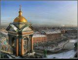 С крыши Исаакия. Панорама из 4 кадров+HDR