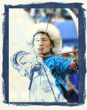 """Прорежется сквозь древность лик стрелка... И изогнется лук упруго. И снова тонко запоет стрела, И отделит врага от друга!  --------------------------------------- соревнования по национальной стрельбе из лука. Бурятия. Международный фестиваль """"Алтаргана 2006"""""""
