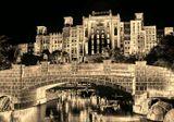 крепость дом здание башня мост вода ночь настроение история