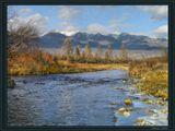 Нередко поздней осенью бывает-Ночами бродят холода... И хоть течет еще река,Но всякий раз природа замирает-Ужель морозы навсегда?--------------------------Тункинская долина в Бурятии. Поздняя осень. На ЗП отроги Восточных Саян.