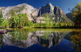 Национальный Парк Йосемити...Панорамное карточка из 14 кадров (2 ряда)...