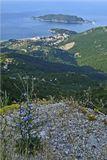 Черногория, вид на пос. Бечичи и остров Св. Николая, июль 2006 г.