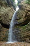 КБР, Малые Чегемские водопады. Вертикальная панорама из 3-х горизонтальных кадров.