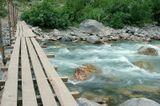 Горная речушка Гега близ гегского водопада. Абхазия.