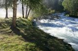 Алтай, река Кучерла, начало второго дня похода. Погода наладилась