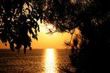 Закат солнца. Фото сделано с  использованием полярика.