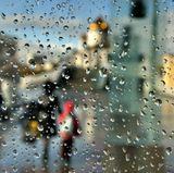 C утра лил дождь.Днем тоже лил дождь.Потом перестал и засветило солнце.  :)))А вечером опять лил дожль...